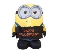 Inflatable Halloween Minion Decoration 3 Foot Bob Outdoor Prop Yard Airb... - $86.99