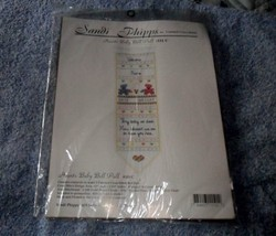 Sandi Phipps Hearts Baby Bell Pull Birth Record Counted Cross Stitch Kit... - $12.86