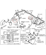 Infiniti Nissan OEM Anti Lock ABS Brake Tube Line Pipes Front Left 46242... - $24.00