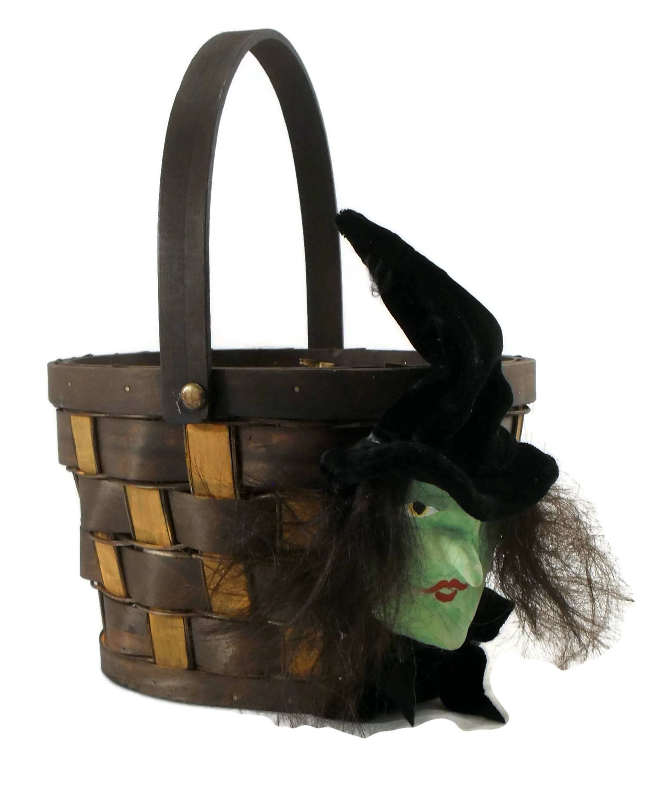 Halloween Handmade Witch Key Basket