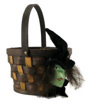 Halloween Handmade Witch Key Basket  - $12.00