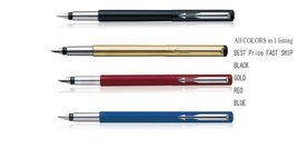 Best Price New Parker Vector 4 Colors Black, Gold, Red, Blue Fountain Pen - $41.82