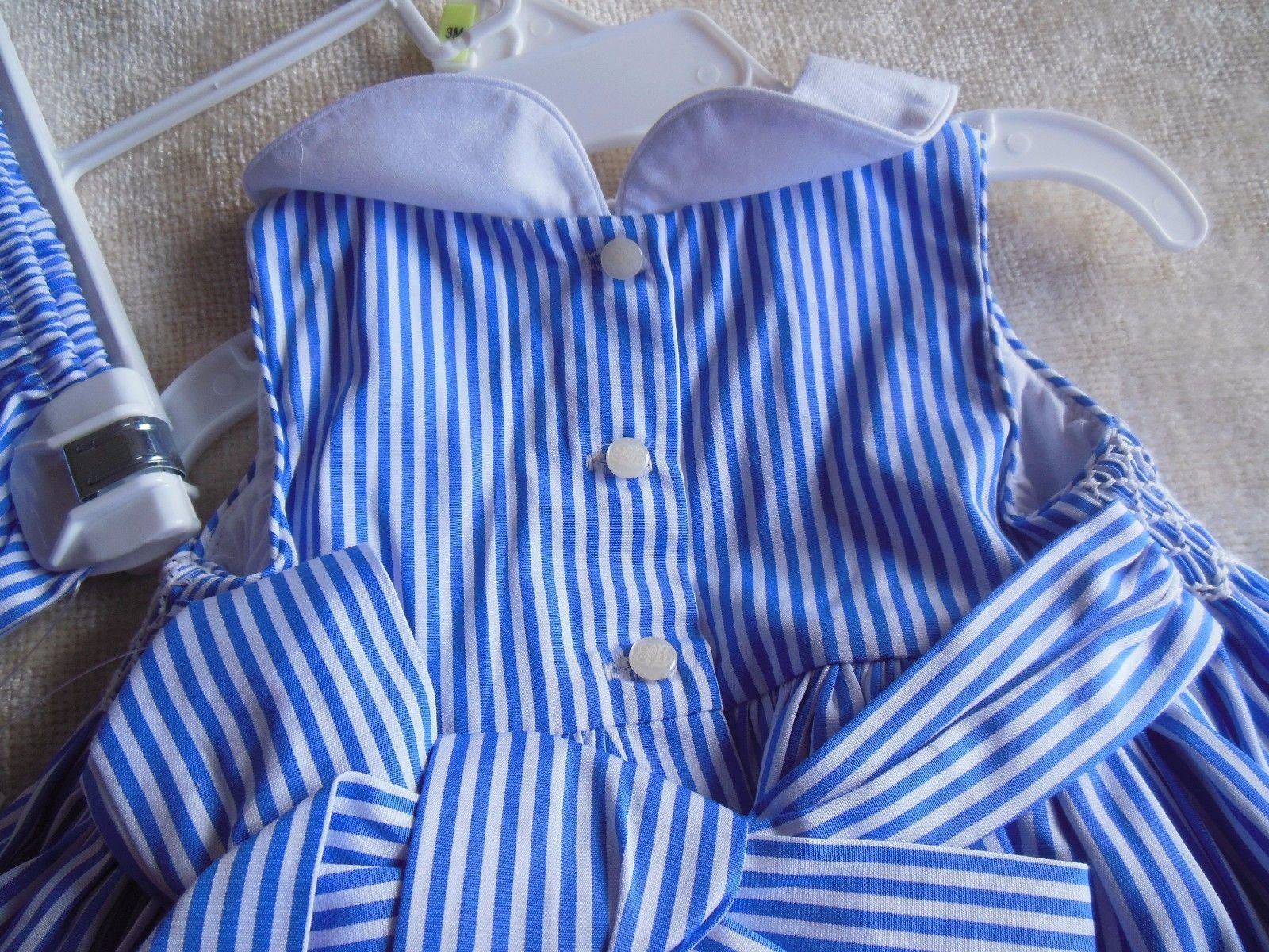 Ralph Lauren Baby Girls 2 Piece Blue/White Dress Size 3M
