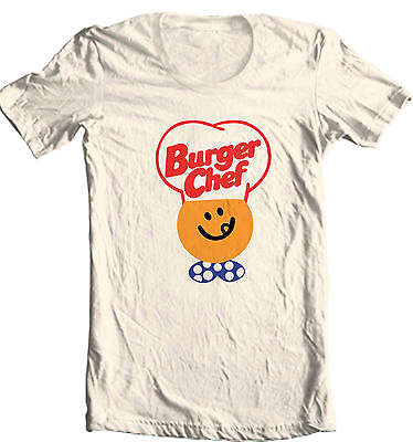 Burger Chef T-shirt cool retro 80's fast food foodie 100% cotton graphic tee