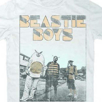 Beastie Boys Halftone T Shirt Rap Hip Hop 90's 100% white cotton concert tee
