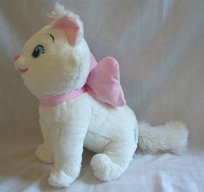 "Disney Store Exclusive Marie Aristocats White Cat 13"" Tall Plush Stuffed Animal"