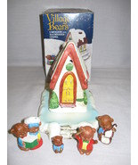 Ceramic Village Bears Handcrafted Hand Painted ... - $7.95