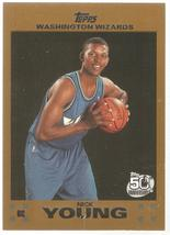 Nick Young Topps 07-08 #126 Rookie Gold #'d 2007 Washington Wizards LA L... - $2.75