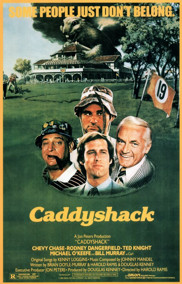 Caddyshack movie poster 1980 27x40