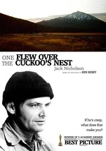 One Flew Over The Cukoo's Nest Movie Poster 27x40 Inches Jack Nicholson Rare Oop - $34.99