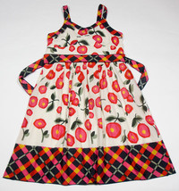 LIMITED TOO GIRLS SIZE 18 DRESS RED POPPY FLORAL FLOWERS SUNDRESS POPPIES - $16.82