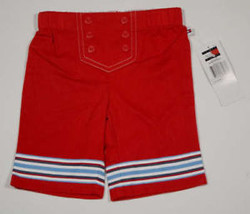 TOMMY HILFIGER NWT BABY GIRLS SIZE 6-12M PANTS RED SAILOR NAUTICAL 6M 12... - $13.45