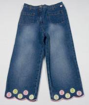 GYMBOREE GIRLS SIZE 9 CAPRI PANTS LEMONY FRESH SUMMER DENIM CAPRIS FRUIT - $15.14