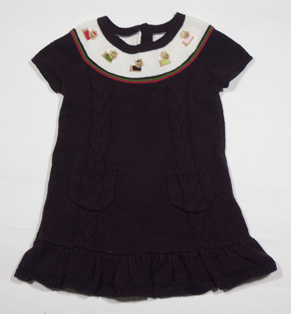 GYMBOREE GIRLS SIZE 18M 24M  SWEATER DRESS PUPS & KISSES YORKIE PUPPY DOGS 18-24
