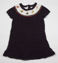 GYMBOREE GIRLS SIZE 18M 24M  SWEATER DRESS PUPS & KISSES YORKIE PUPPY DO... - $15.98