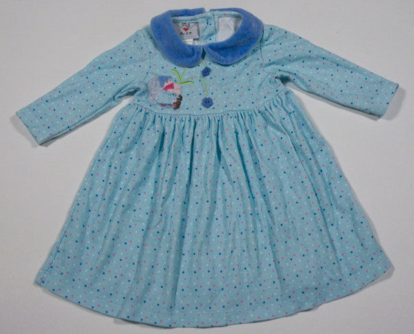P.S. BY S.P. BABY GIRL 12M DRESS ONCE UPON A TIME FAIRY TALE BLUE POLKA DOTS