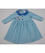 P.S. BY S.P. BABY GIRL 12M DRESS ONCE UPON A TIME FAIRY TALE BLUE POLKA ... - $12.61