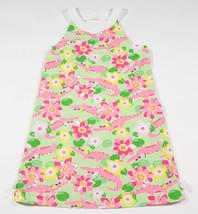 GYMBOREE GIRLS 9 DRESS ISLAND LILY PINK GREEN ALLIGATOR GATOR TROPICAL F... - $15.98
