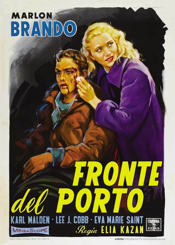 On the waterfront movie poster 1954 27x40