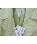 Worthington Peacoat Jacket~10P~Spring Green+Whi... - $39.59