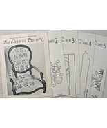 THE CREWEL PASSION~5 Pattern Sheets~from 1965 i... - $39.59