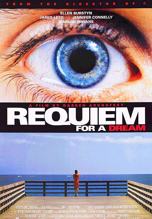 Requiem for a Dream Movie Poster 27x40 inches Jennifer Connelly Eye Dock RARE OP
