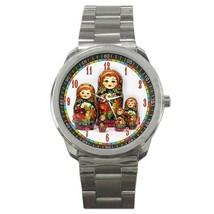 Russian Nesting Dolls Sport Metal Watch Gift mo... - $15.99