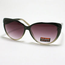 Womens Fashion Sunglasses Vintage Retro Cat Eye Frame 2-Tone BLACK-CLEAR - $7.87