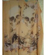 Skulls and Flowers scarf (orange) - $6.78
