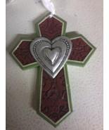 Heart Cross Ornament (red) - $4.80