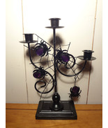 GOTHIC DECOR Spider Web Taper Candle Holder - $10.65