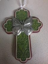 Butterfly Cross Ornament (green) - $4.80
