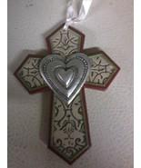Heart Cross Ornament (ivory) - $4.80