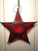 Red Star Tea Light Lantern - $8.12