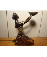 WICCA Woman kneeling with offering tray figurine - $22.05