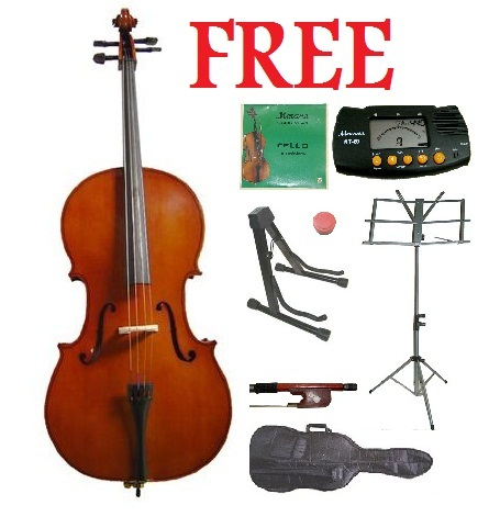 Primary image for Crystalcello MC100 4/4 Size Cello with Carrying Bag and Bow