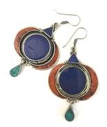 Handmade Tibetan Silver Lapis, Coral, and Turqu... - $12.79