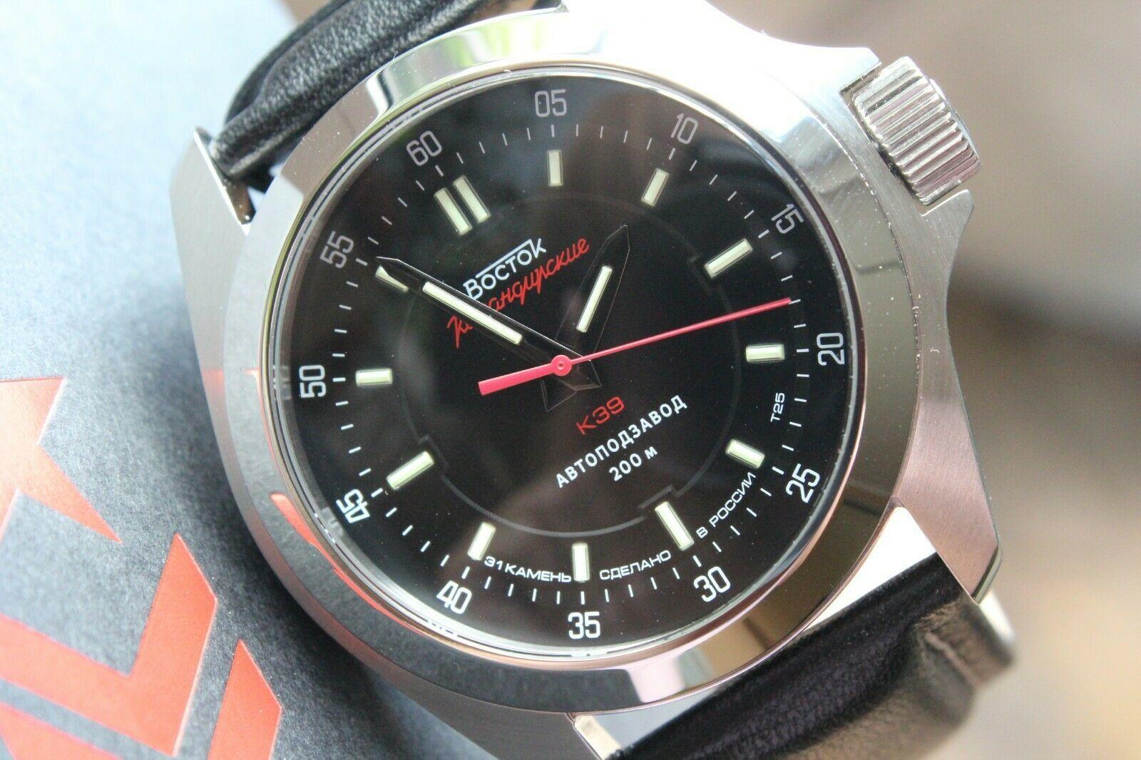 Vostok Komandirsky Russian Mechanical Automatic K-39 Military wristwatch 390775 image 3