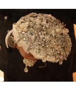 Luxury bridal brooch bouquet, wedding jewelry, crystal rhinestone bouquet - $328.00