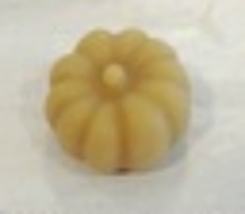Pumpkin small Thread Waxer 100% beeswax thread detangler Lady Dot Creates  - $4.50