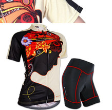 Summer Women Team Cycling Sports Jersey+Coolmax Shorts Set Bike Wear Clo... - $13.92+
