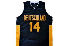 Dirk Nowitzki #14 Team Deutschland Germany Basketball Jersey Black Any Size image 4