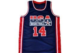 Charles Barkley #14 Team USA Basketball Jersey Navy Blue Any Size image 4