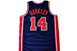 Charles Barkley #14 Team USA Basketball Jersey Navy Blue Any Size image 5