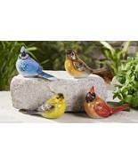 Set of 4 Bird Figurines - Cardinal, Blue Jay, Yellow Bird, Home Garden D... - $49.49