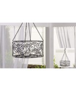 "28"" Hanging  Basket Iron & Glass Tealight Holder - 8 Tealight Glass Hold... - $98.99"