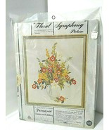 """FLORAL SYMPHONY Flowers in Pitcher Crewel Embroidery Kit 16x20"""" Paragon NEW - $36.58"""
