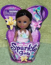 """Funville Sparkle Girlz in Blue & Lt. Pink Dress 4.5""""H Mini AA Doll New - $5.88"""