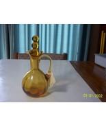 Rainbo or Pilgrim Amber Tri Corner Cruet - $17.82