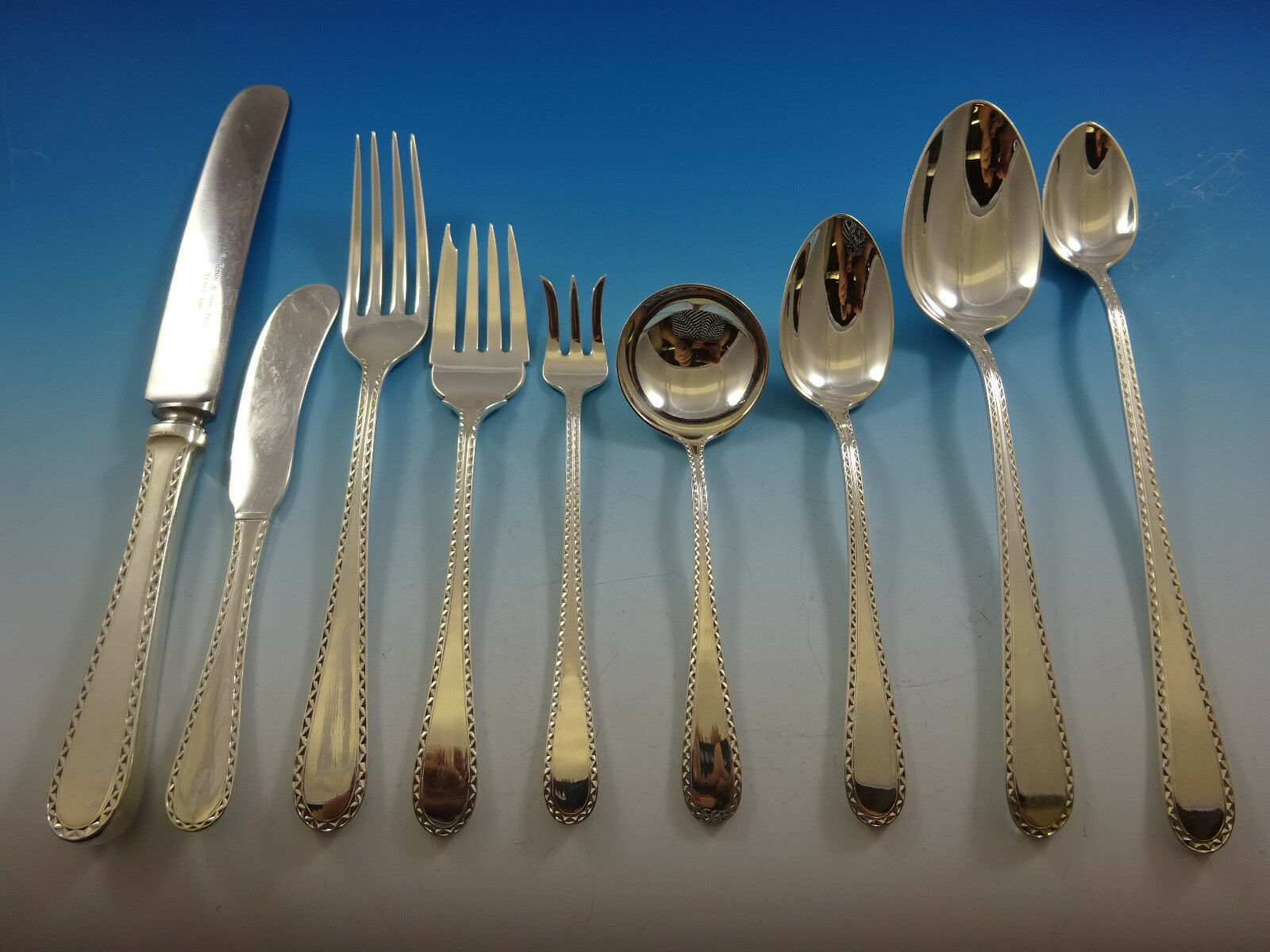 Primary image for Winslow by Kirk Sterling Silver Flatware Service 12 Set 155 Pieces Huge Fabulous
